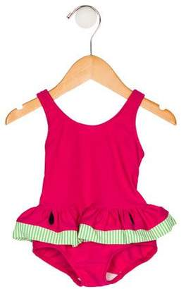 Florence Eiseman Girls' Watermelon One-Piece Swimsuit