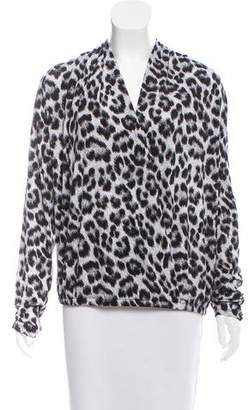 MICHAEL Michael Kors Leopard Printed Long Sleeve Top