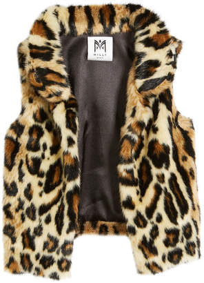 75003e17cc6e Milly Cheetah Faux Fur Vest, Size 4-7