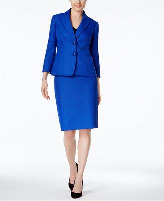 Le Suit Textured Two-Button Skirt Suit $200 thestylecure.com