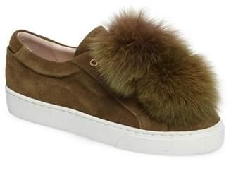 Here \u002F Now Here\u002FNow Lara Genuine Fox Fur Poms Slip-On Sneaker (Women)