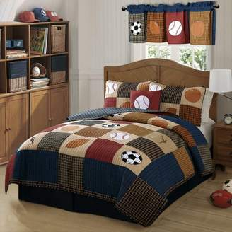 Laura Hart Kids Classic Sports Quilt with Pillow Sham
