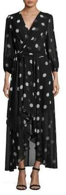 Eliza J Dot Hi-Lo Quarter-Sleeve Dress