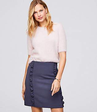 LOFT Petite Ruffle Shift Skirt