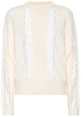 Chloé Lace-trimmed sweater