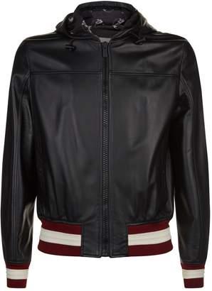 Bally X SHOK-1 Leather Hooded Jacket