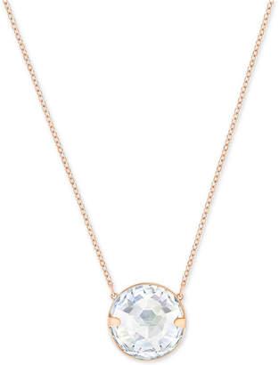 Swarovski Globe Rose Gold-Tone Crystal Pendant Necklace