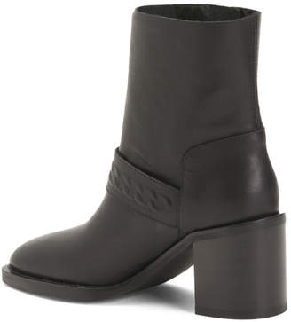 Made In Italy Mid Shaft Burnish Leather Boots