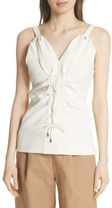 Carven Lace-Up Tank