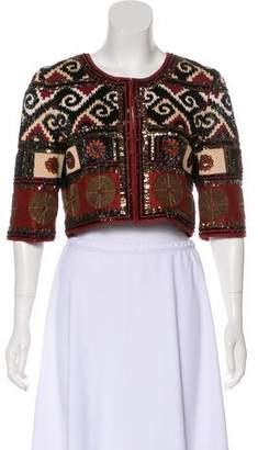 Oscar de la Renta Embellished Cropped Jacket w/ Tags