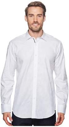 Bugatchi Shaped Fit Woven Shirt Men's Long Sleeve Pullover