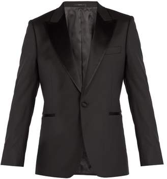 Paul Smith Single Breasted Wool Tuxedo Jacket - Mens - Black