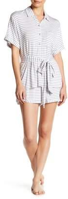 Shimera Collared Shirt & Shorts PJ Set