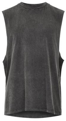 Topman Mens Washed Black Tank Vest