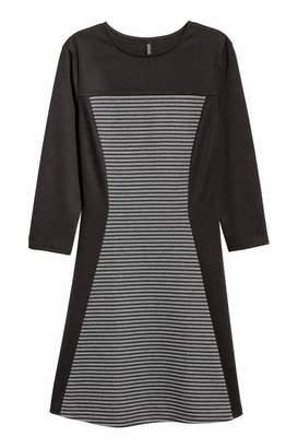 H&M Ribbed Jersey Dress - Dark gray - Women