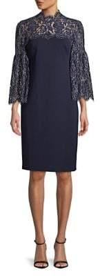 Eliza J Scalloped-Lace Combo Dress