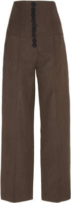 Racil Stevie High-Rise Buttoned Trousers