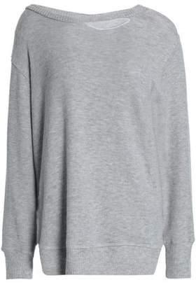 LnA Cutout Stretch-Tencel Jersey Top