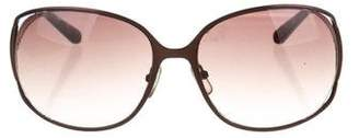 Calvin Klein Collection Oversize Tinted Sunglasses