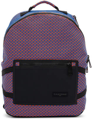 Eastpak Orange and Blue Padded Bright Twine Backpack