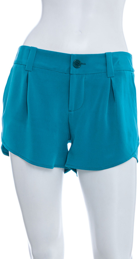 Alice + Olivia Pleated Butterfly Shorts
