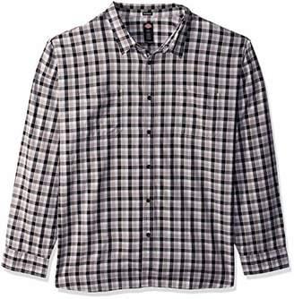 Dickies Men's Long Sleeve Relaxed Yarn dye Plaid Shirt Big