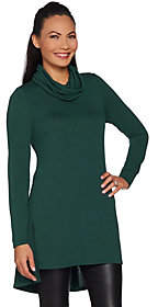 Lisa Rinna Collection Petite Cowl Neck Tunicw/ Seam Detail