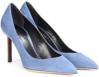 Blue Suede Anja Heels Saint Laurent wCn76z3