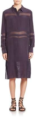 Public School Women's Straight-Fit Silk Jade Dress
