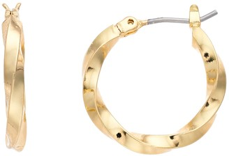 Dana Buchman Extra Small Gold Hoop Earrings