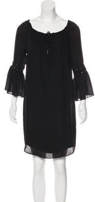 Haute Hippie Silk Off-The-Shoulder Dress