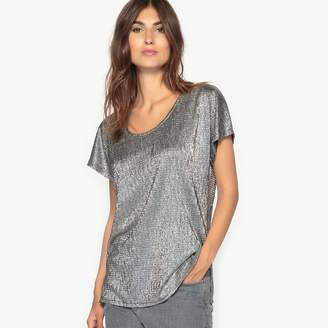 Anne Weyburn Metallic Look T-Shirt