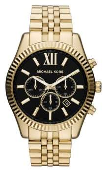 Michael Kors Lexington Chronograph Goldtone Bracelet Watch