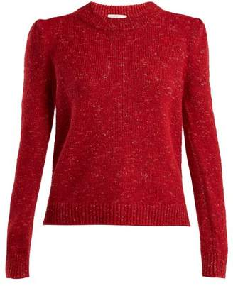 Isa Arfen Speckled Knit Crew Neck Sweater - Womens - Red
