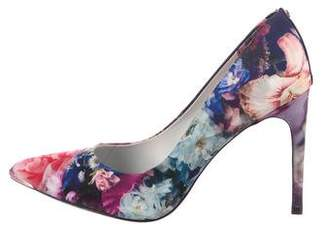Ted Baker Printed Satin Pumps