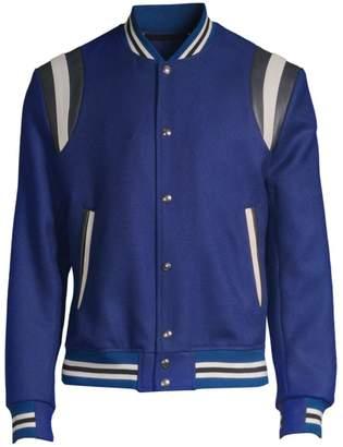 Paul Smith Saturn Wool & Leather Varsity Jacket