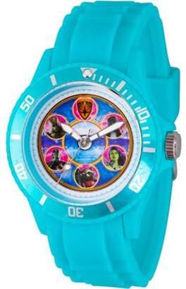 Marvel Guardians of the Galaxy Unisex Blue Plastic Watch, Blue Bezel, Blue Plastic Strap