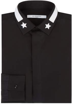Givenchy Contrast Collar Star Shirt