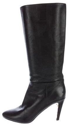 pradaPrada Leather Mid-Calf Boots