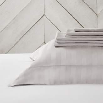 The White Company Cambridge Stripe Flat Sheet