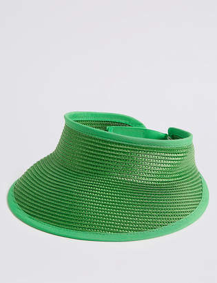 M&S Collection Woven Visor Hat