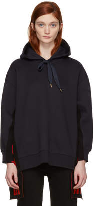 Stella McCartney Navy All is Love Side Ribbon Hoodie