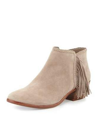 Sam Edelman Paige Leather Fringe Bootie, Putty $140 thestylecure.com