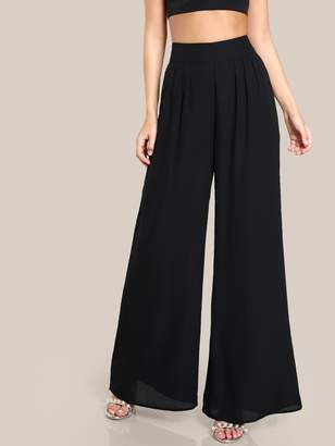 Shein Box Pleated Palazzo Pants