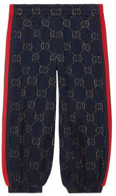 Gucci Metallic GG Jacquard Jogger Pants, Size 4-12