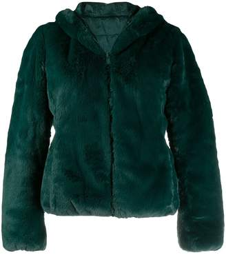 Save The Duck reversible faux-fur hooded jacket