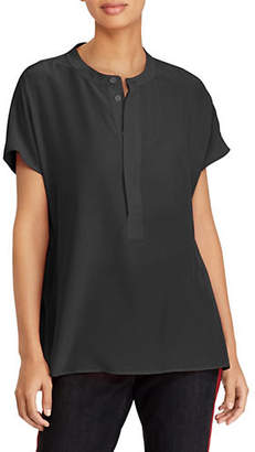 Polo Ralph Lauren Short-Sleeve Relaxed-Fit Silk Blouse