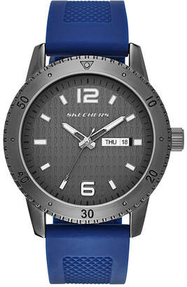 Skechers Mens Blue Silicone Strap Watch