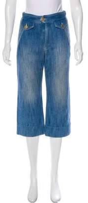 Isabel Marant Cropped High-Rise Pants