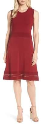 MICHAEL Michael Kors Ottoman Fit & Flare Knit Dress